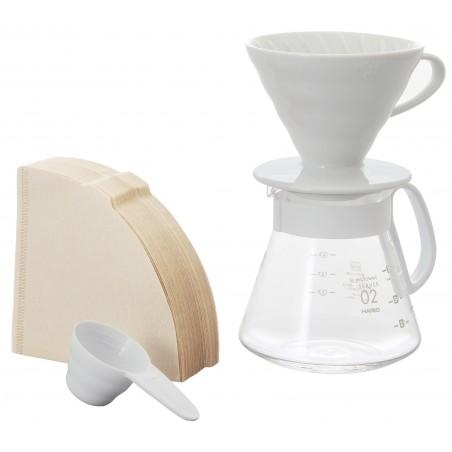 Kit V60 Blanc (1-4 Tasses) - HARIO