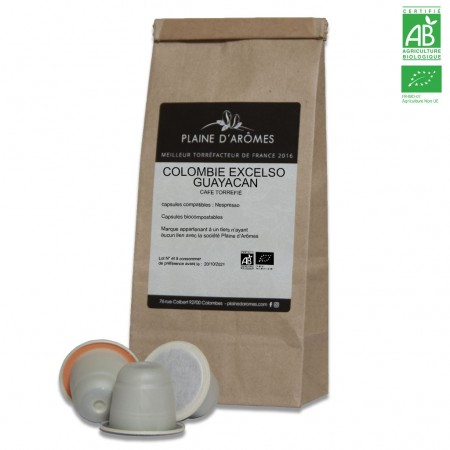 Capsules Colombie Excelso Guayacan Compatible Nespresso  BIO ®