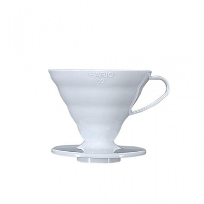 Dripper V60 Conique blanc (1-4 tasses) - HARIO