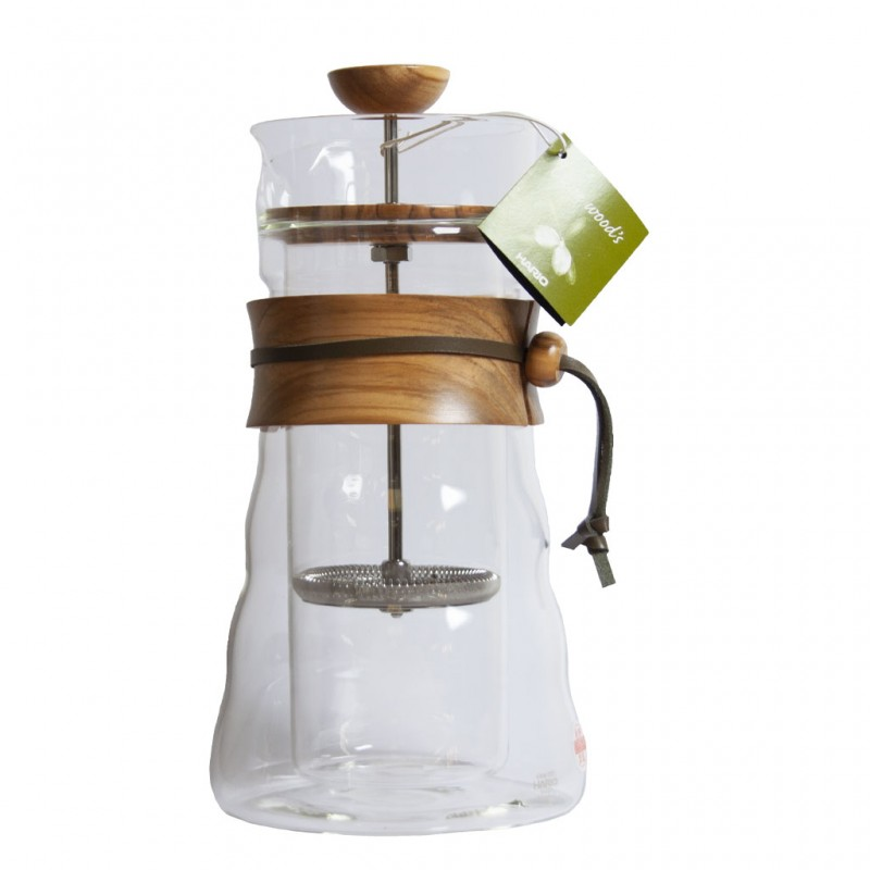 Cafetière à piston double paroi en verre - 400 ml - HARIO