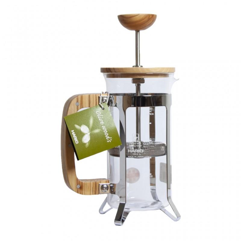 Cafetière piston bois d'olivier, 300ml - HARIO