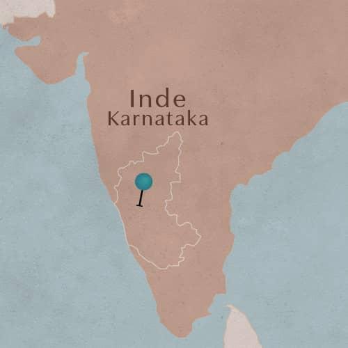 L'état de Karnataka en Inde