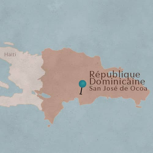 Terroir de San José de Ocoa situé en République Dominicaine