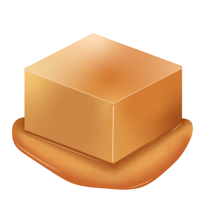 illustration d'un caramel fondant