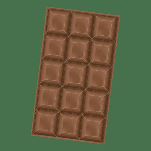 illustration tablette chocolat au lait
